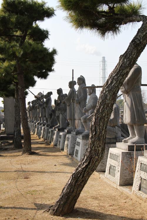 2014年 赤穂市の大石神社はオール赤穂浪士の雰囲気です