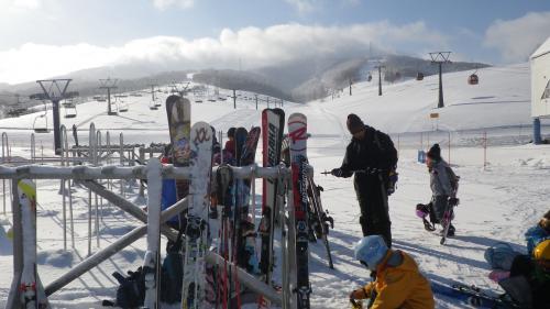ルスツでスキー