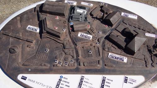 イルミ紀行(39)・・・INAXライトミュージアム その1 駐車場から博物館前まで。