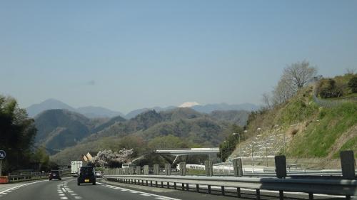桜追っかけ一人旅(113) 中央道 谷村PAで休憩