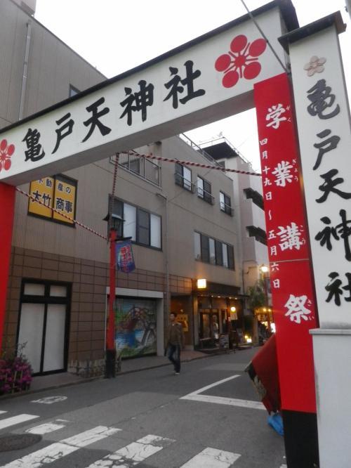亀戸天神社で満開の「藤」を見る