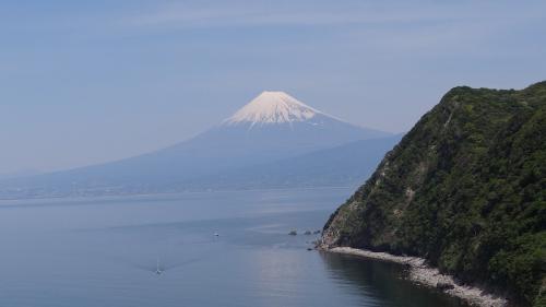 煌めきの丘から見た富士山。