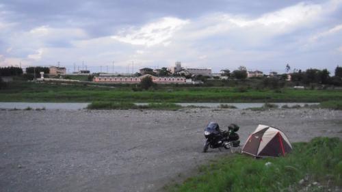 カワセミ河原でひと休み