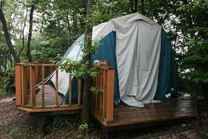 星空の下でキャンプの予定だったけど、、、