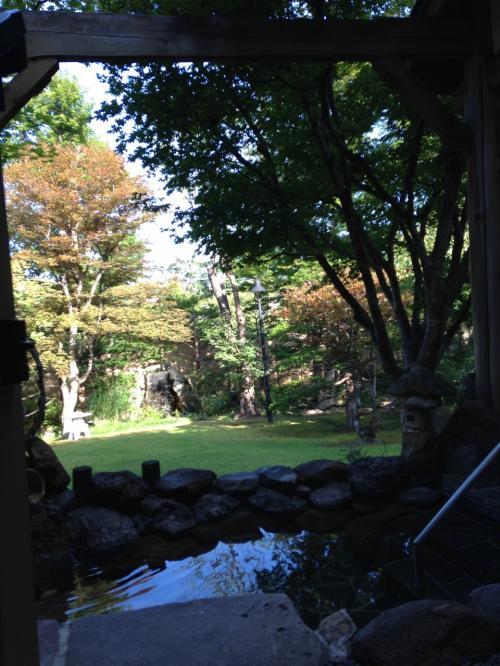 サン・プリンセス北海道周遊クルーズ親子旅②小樽朝里川温泉の朝~緑の庭園を散歩~♪