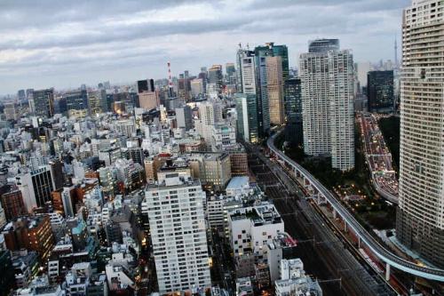 東京タワー ・ 東京スカイツリー も 観える   「 世界貿易センタービル 40階 展望台 」 からの夜景 港区 東京都