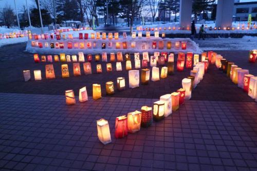 第13回たきかわ紙袋ランターンフェスティバル(北海道滝川市:2015.2.28)