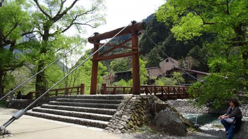 新緑の上高地散策の旅(11) 上高地・河童橋付近の散策。