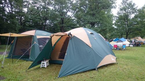 梅雨期のキャンプ台風の去った後に・休暇村蒜山高原オートキャンプ場