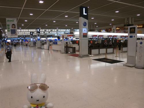 第2回DMMミーティング in 成田 飛行機乗るのは我慢(爆)!第3ターミナル散策して、さくらの山で飛行機の離発着を見て、航空科学博物館でジャンボ機の操作した後に、日航成田のガーデンバーベキュー&ビュッフェで乾杯