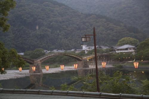 九州から帰り岩国・錦帯橋に立ち寄る