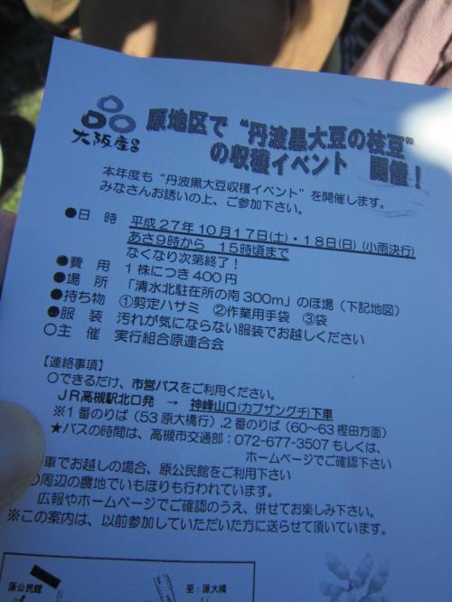 """""""丹波黒大豆の枝豆""""の収穫イベント 最高!に参加してきました"""