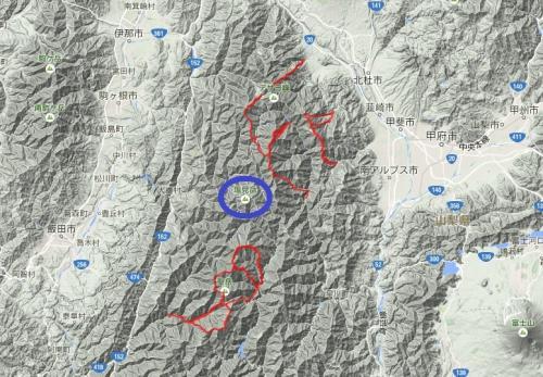 南アルプス中心部に足がかりを / 塩見岳