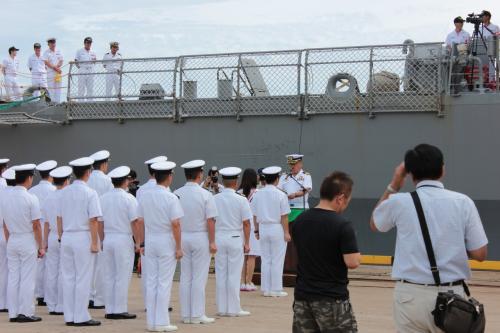 護衛艦「しらね」ラストイヤー 富山湾で体験航海