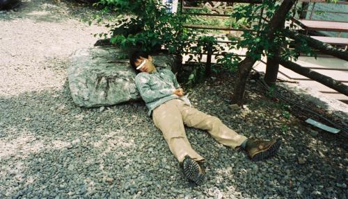 内田 登山 くん と  南アルプス仙丈岳  2003