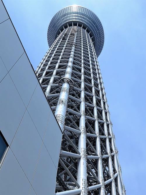 東京スカイツリーA タワービュー通り再訪問 ☆塔直下~634mの距離を実感
