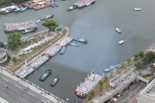 学問の神様菅原道真の天神祭は京都の祇園祭と東京神田祭の日本3大祭りの一つにマンション34階から