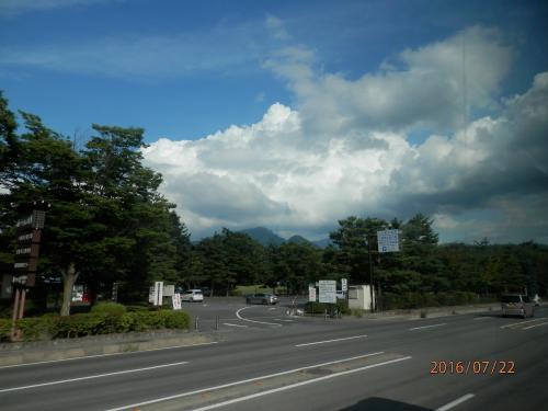黒部ダム①3大町温泉ホテルへ向かう