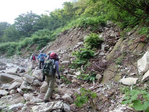 虎毛山登山 高山植物を求め