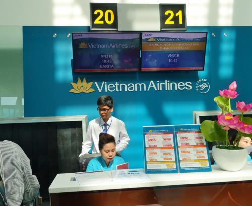귀로도 베트남 항공, 접수는 매우 원활.