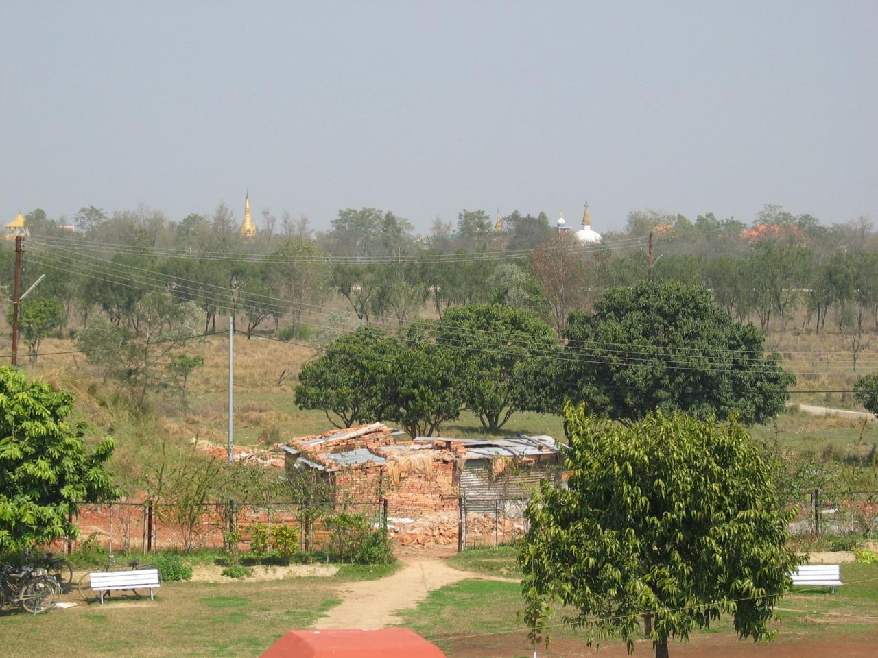 ルンビニーから周りの展望です。よく見てみると、色... 『インド仏跡参拝と世界遺産の旅?【ルンビ