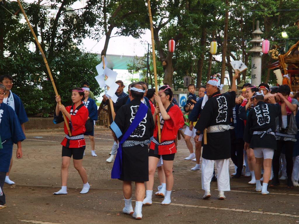 日本の祭 2012 東京都北区 王子神社 例大祭 御宮出し ささら囃子ー3