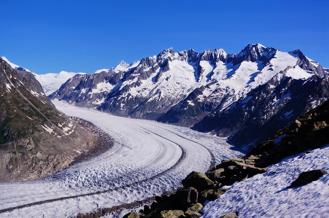 『86 Bettmergrat - Eggishorn エッギスホルン展望台』アレッチ氷河周辺(スイス)の旅行記・ブログ by いぶれすさん【フォートラベル】