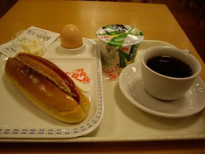 千葉駅構内でパン系モーニング