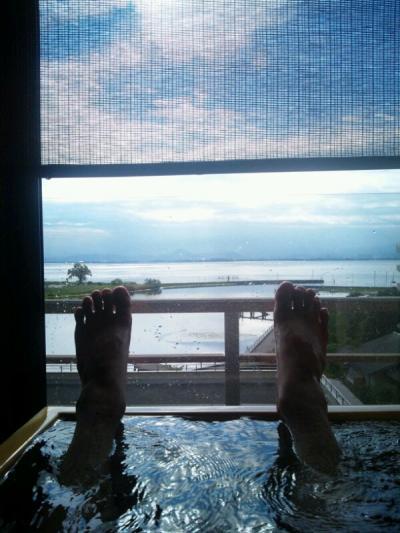 部屋風呂からの眺めが最高
