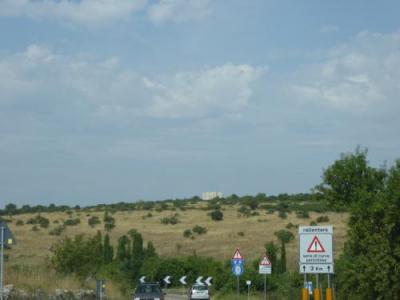 バーリからカステル・デル・モンテとアンドリアとトラーニの日帰りに専用車ベンツで移動しました。