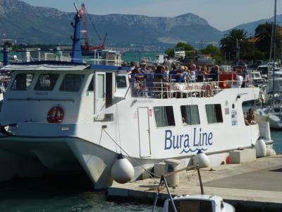 トロギールからスプリトへ船で移動