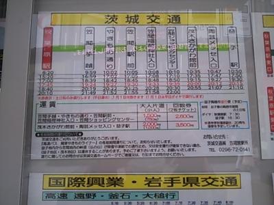 益子駅行き