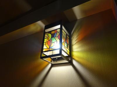 廊下にあるランプも素敵です。