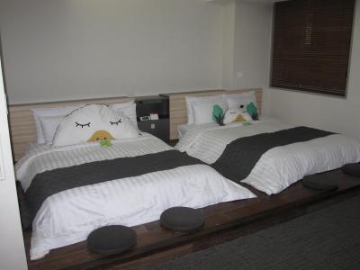 ベッドもゆったりサイズです