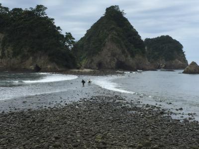 堂ヶ島のトンボロ(瀬浜海岸)