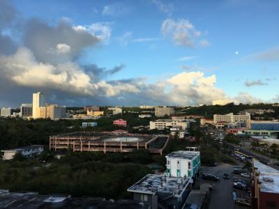 ホテルからの景色です