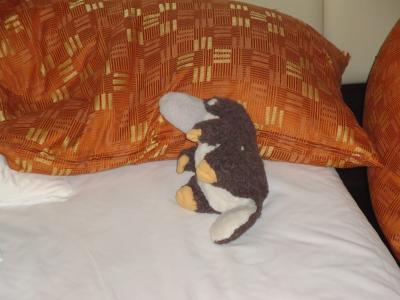 夜景見に行く前にベッドでひと休み