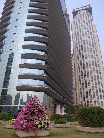 都会のホテルらしく高層でした