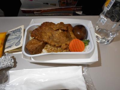 機内食おいしい!