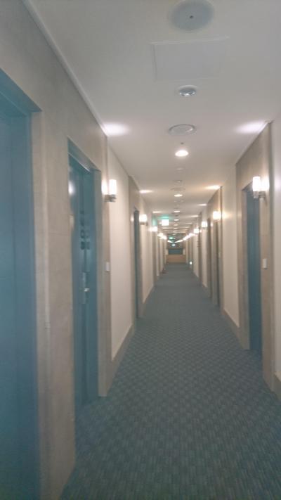 泊まった階の廊下