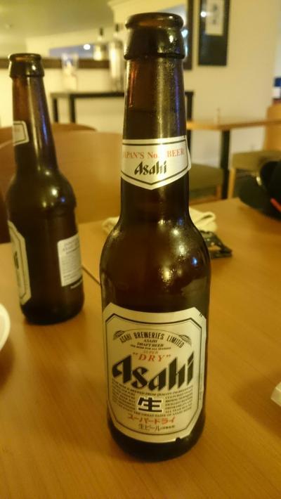エグゼクティブラウンジで飲んだビール