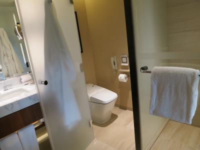 トイレの隣はシャワーブース