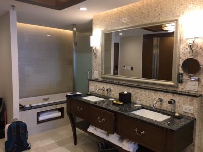 シャワールームとバスタブが別に」なっています。