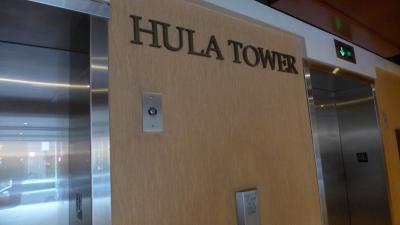 宿泊階へのエレベーター