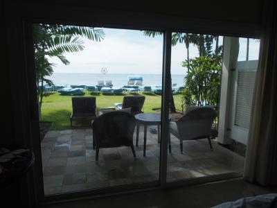 ビーチフロントラナイの部屋からの眺め