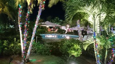 正月に宿泊したのでホテルの敷地にはイルミネーションが。