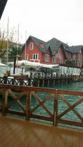 リド島のラグーンが目の前のホテル