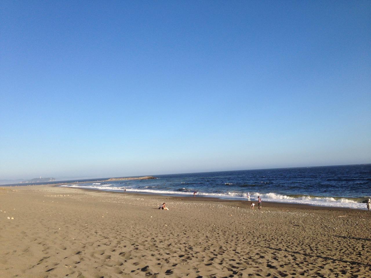 湘南,江ノ島,ビーチ,海水浴,海,画像