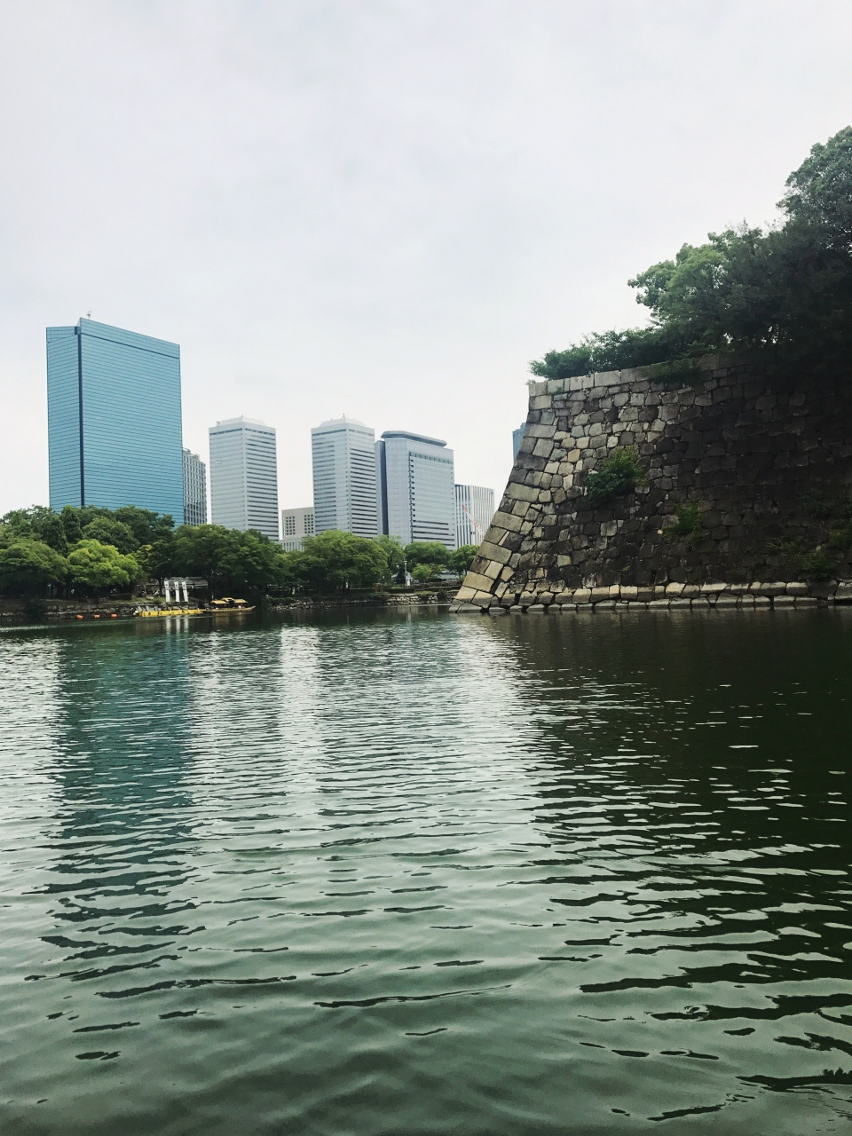 大阪城御座船から見上げる石垣