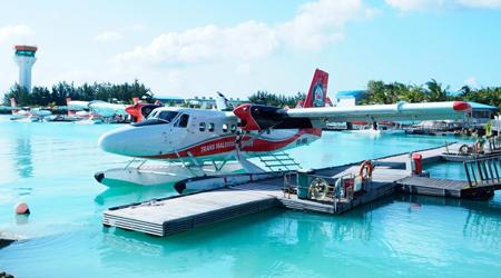 憧れのモルディブ☆アリ環礁の青い海☆水上コテージ&水上飛行機 移動編 1